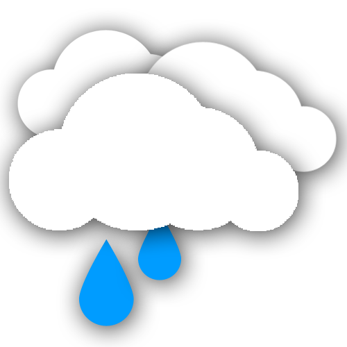 Light Rain. Wind 13 mph
