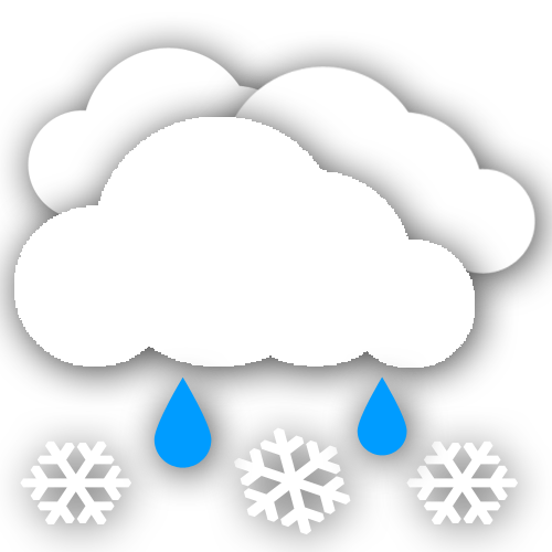 Chance Rain/Snow. Wind 6 mph