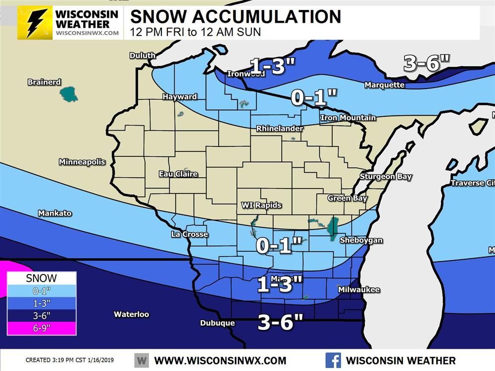 Niagara Escarpment Wisconsin Map.Updated Snow Friday Night As Winter Storm Hits Midwest