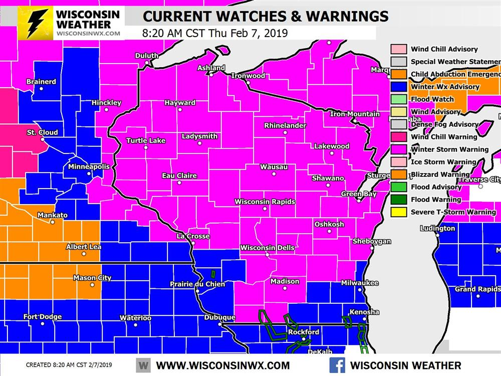 8:20AM THU - Warnings and advisories