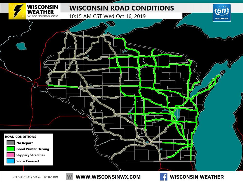 Wisconsin winter road conditions map