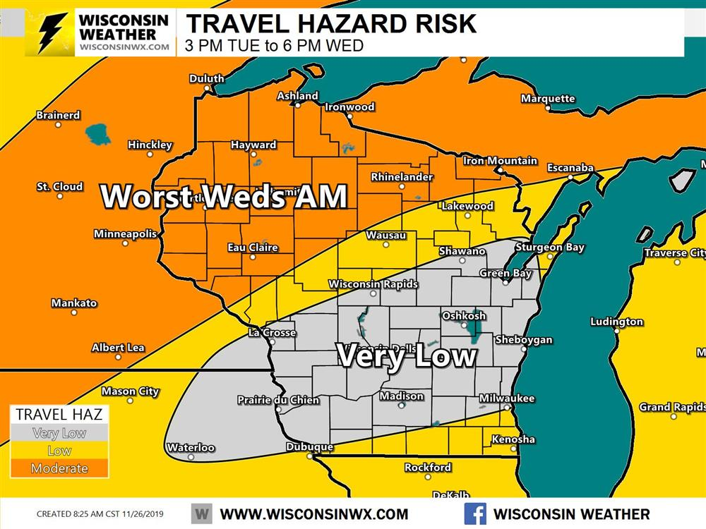 Travel hazard forecast