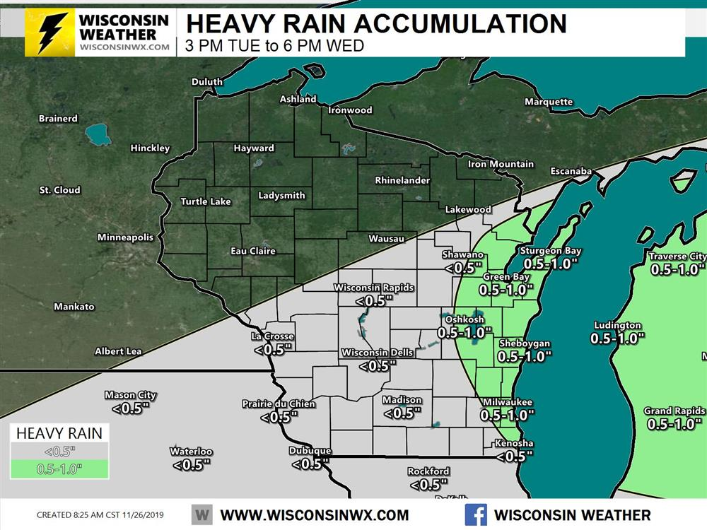 Rainfall accumulation forecast