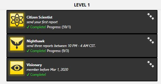 Level 1 achievements with WIWX 9.5