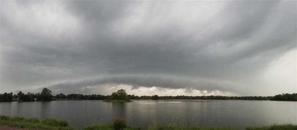 Shelf cloud near Necedah, WI on July 14, 2020.