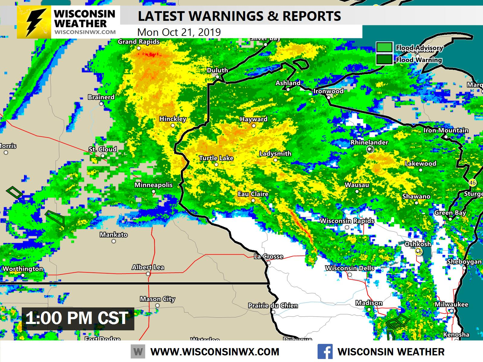 Wisconsin Weather Map Camping Map